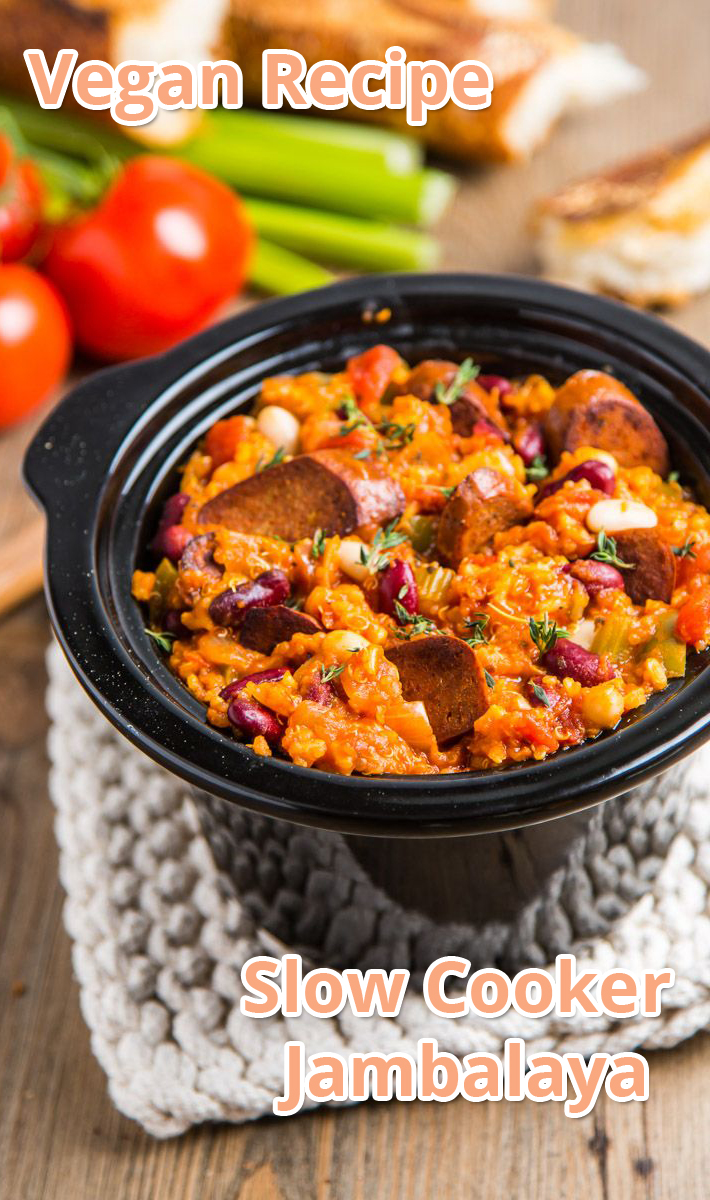 Slow Cooker Jambalaya (Vegan) - Recipe