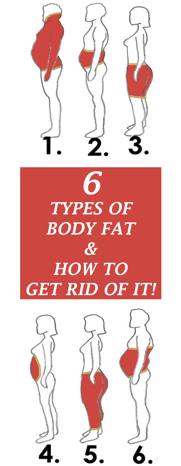 6 Types Of Body Fat And How To Get Rid Of It