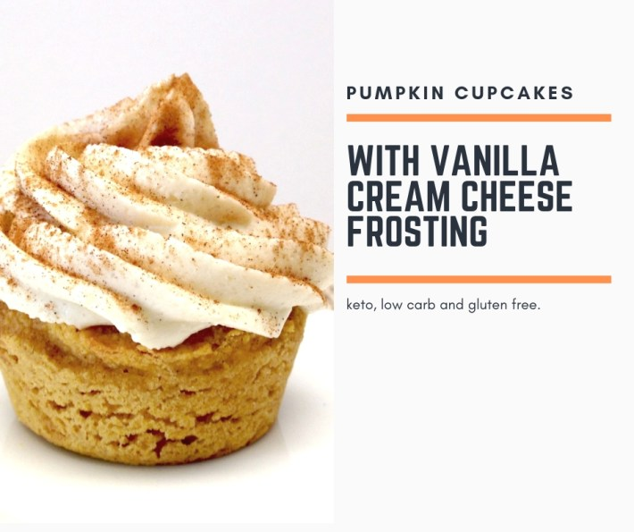 Pumpkin Cupcakes With Vanilla Cream Cheese Frosting