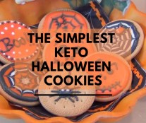 The Simplest Keto Halloween Cookies