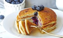 Keto Low-Carb Blueberry Pancakes