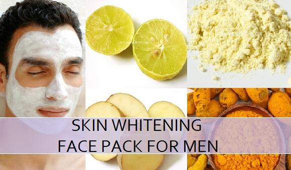 skin whitening face pack for men