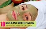 10 Multani Mitti Packs Masks for Acne, Pimples, Oily Skin, Fairness