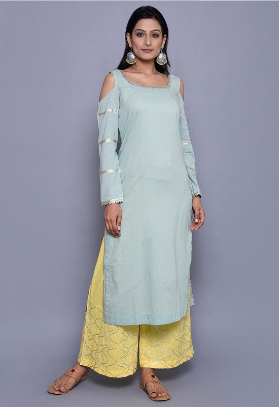 cold shoulder kurta for women 6