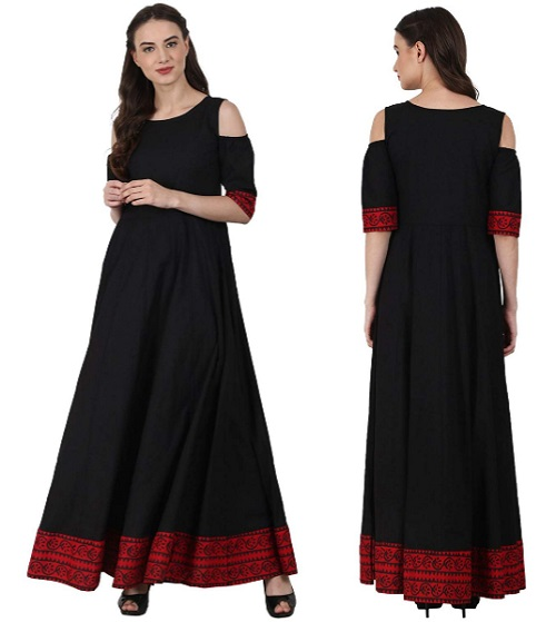 cold shoulder kurta for women 8