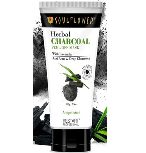 Soulflower Herbal Charcoal Peel Off Mask with Lavender