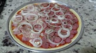 receita massa pizza caseira montada