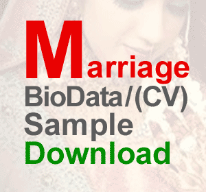 bride cv biodata resume sample matrimonial resume sample download
