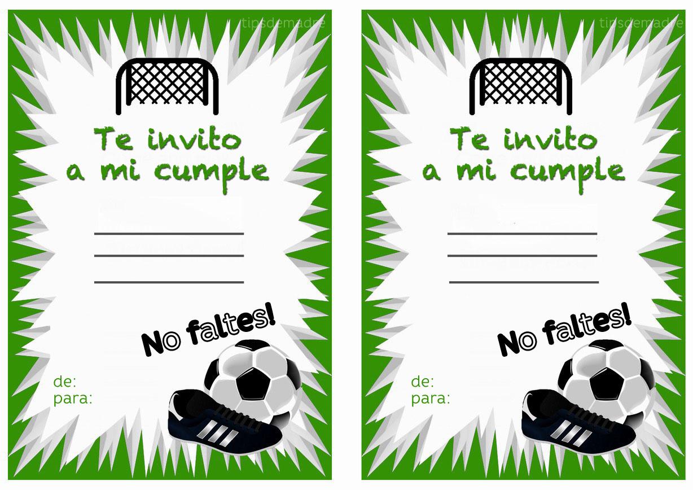 Extraordinario Invitaciones Cumpleanos De Futbol Para