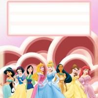 Etiquetas de las Princesas de Disney
