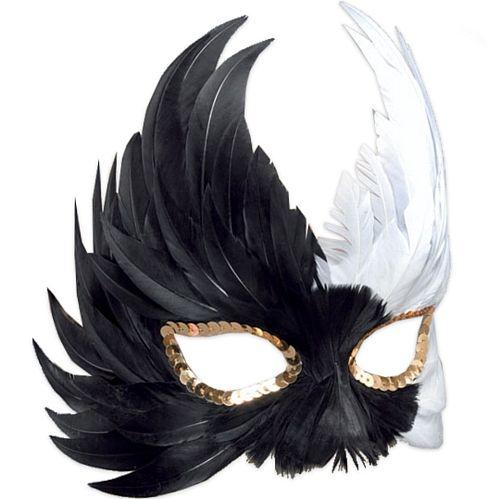 mascara de plumas