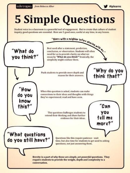 five simple questions infograhic