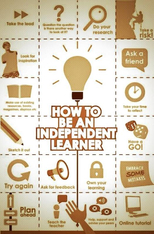 infographic - How to be a independent Learner