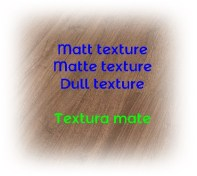 textures of surfaces and materials in spanish
