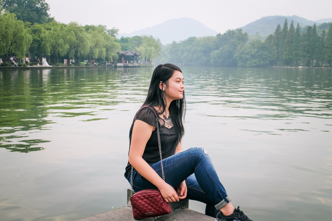 hangzhou china west lake touristic landmark