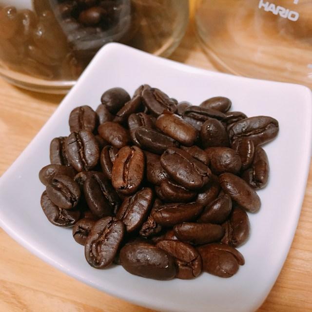 マンデリン フルシティロースト コーヒー豆の写真