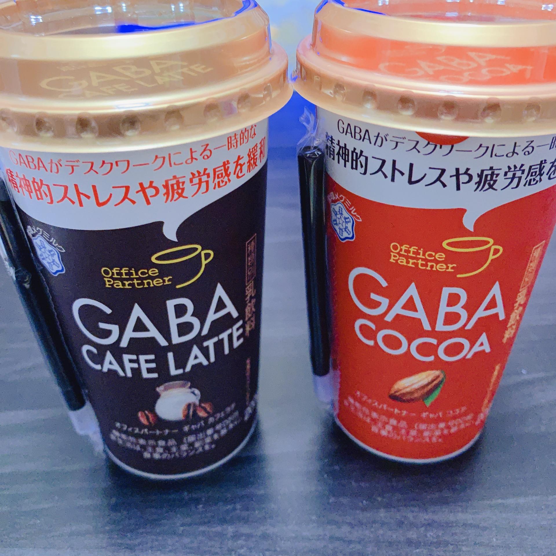 雪印 GAVA cocoaとcafe latteの写真