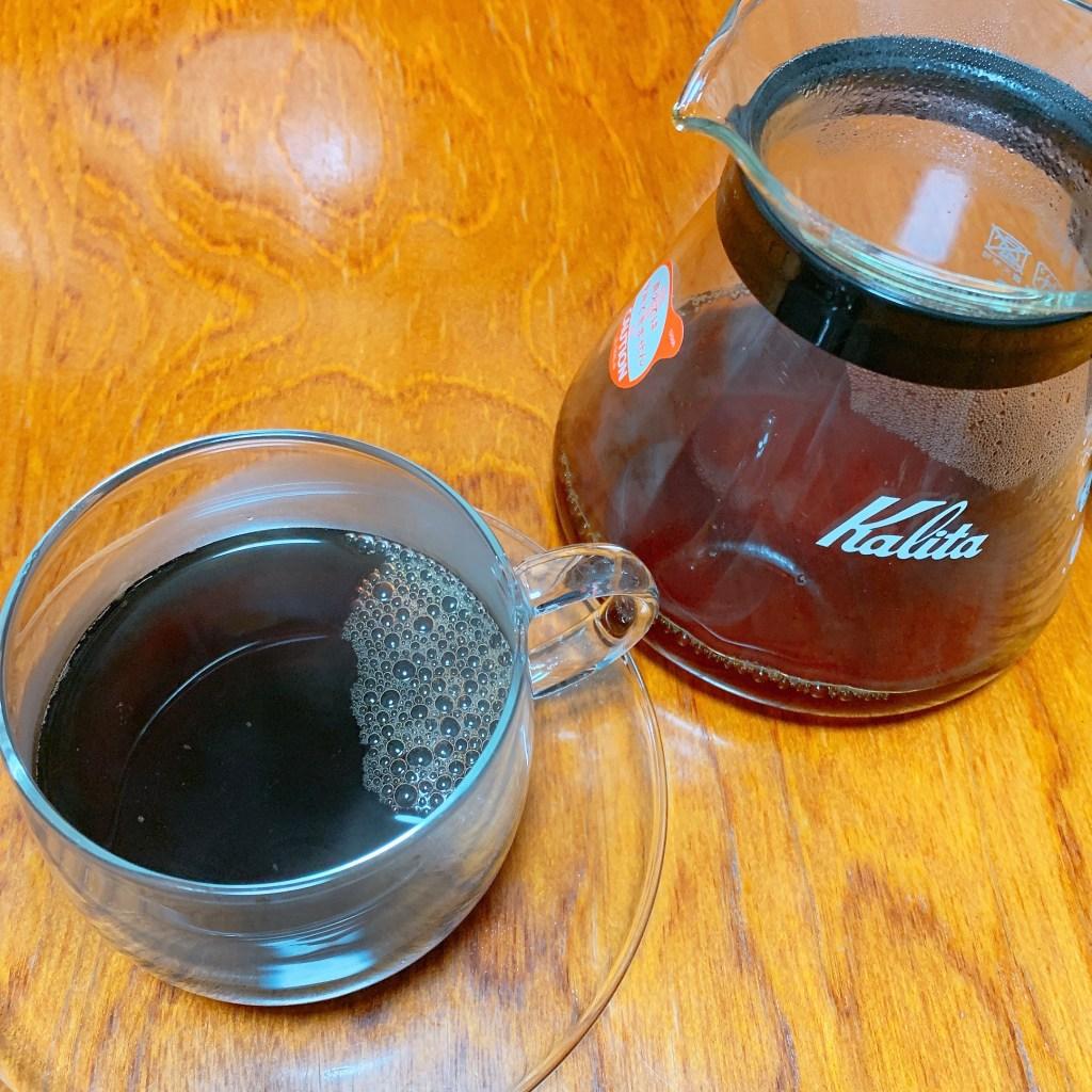 ブラジルサントスNo.2 をドリップしたコーヒーの写真