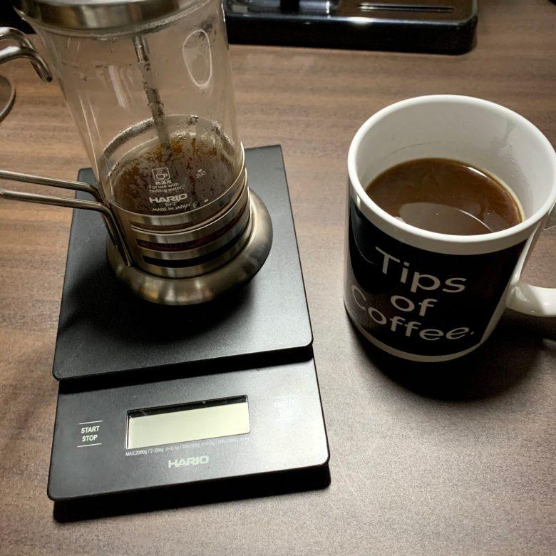 美味しいコーヒー完成