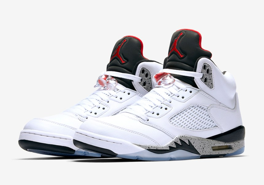 "huge selection of 20429 0c669 Official Images of the Air Jordan 5 ""White/Cement"" – TIP SOLVER"