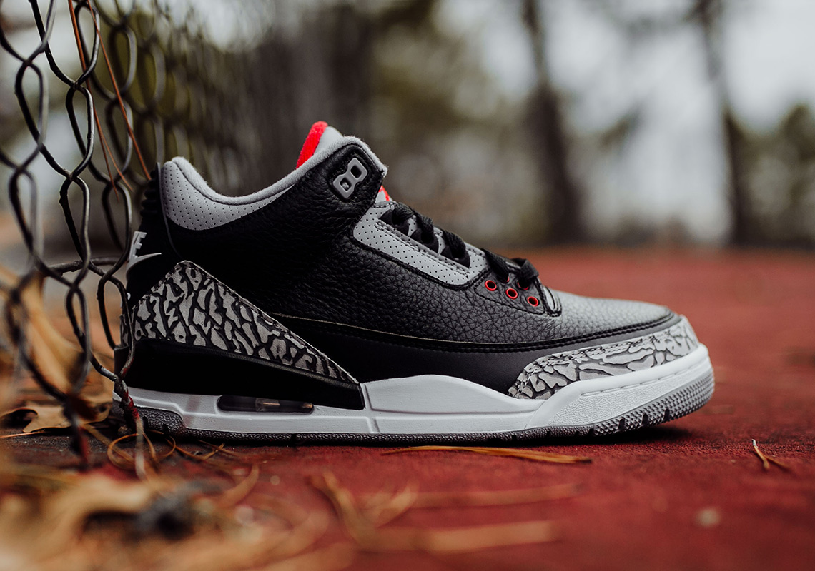 separation shoes af8f6 d1b20 Air Jordan 3 Black Cement – Full Sizing + Price Info – TIP ...
