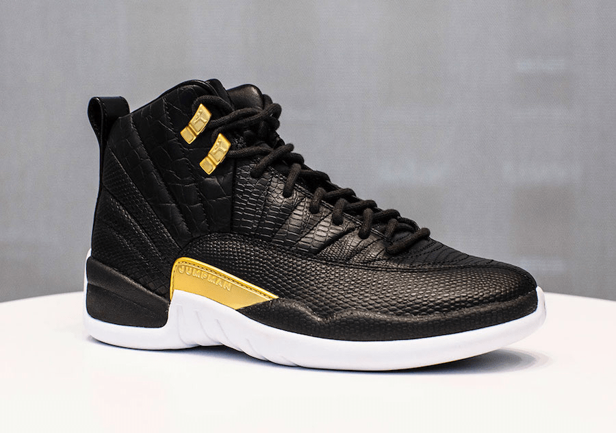 Air Jordan 12 WMNS Black and Gold