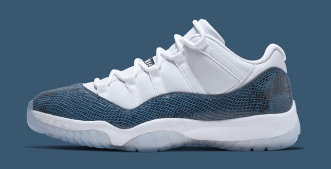 Air Jordan XI Low 'Blue Snakeskin'