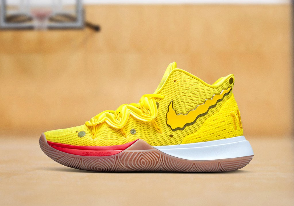 "Picture of the SpongeBob SquarePants x Nike Kyrie 5 ""SpongeBob"" Shoe."