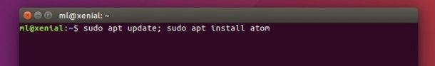 install-atom-editor