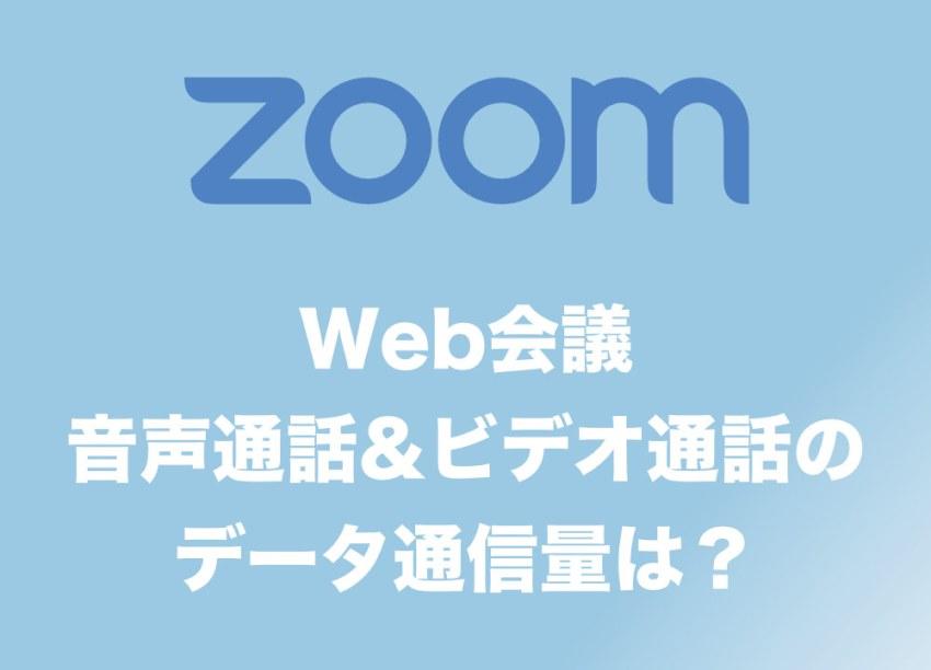 zoom データ 使用 量