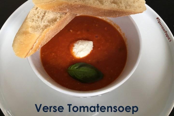 Verse Tomatensoep: simpel, lekker en zelfs voor zieke peuters