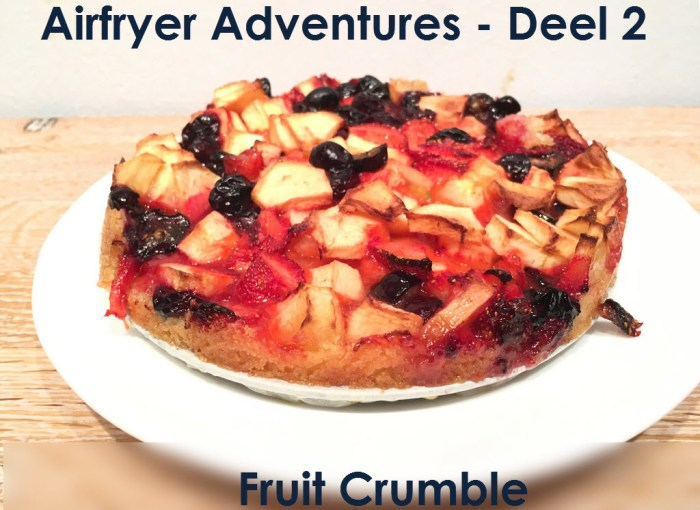 airfryer adventures fruit crumble