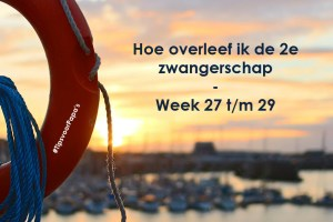 Hoe overleef ik de 2e zwangerschap – week 27 t/m 29