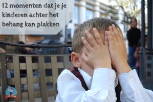 12 momenten dat je je kinderen achter het behang kan plakken