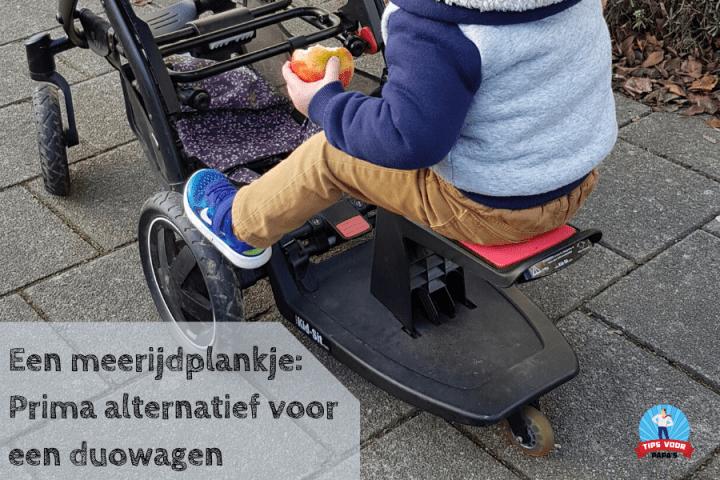 Een meerijdplankje: een prima alternatief voor een duowagen