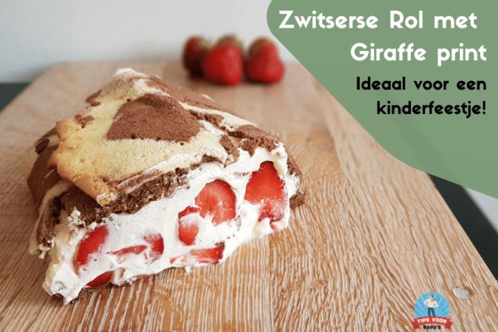 Zwitserse rol met Giraffe print – Verrassend verjaardagsgebak