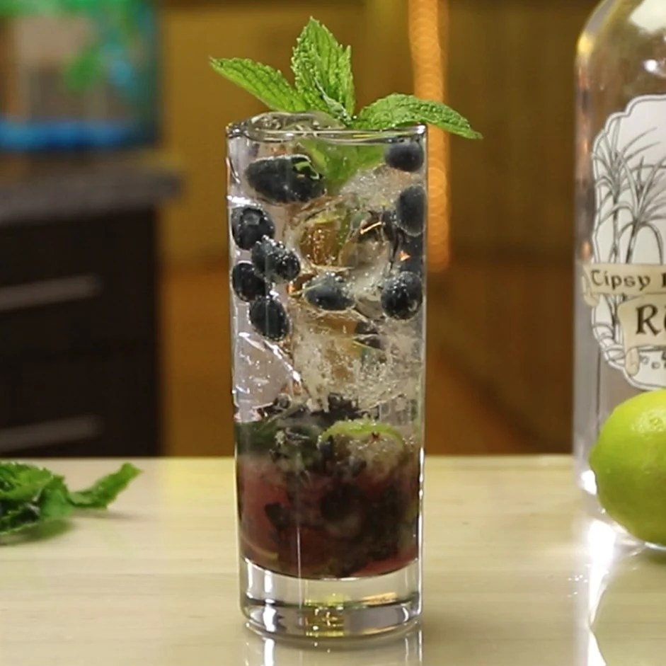 Image result for Blueberry mojito