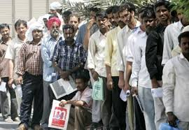 Essay l7 Queue of Indian workers