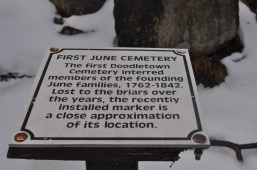 Doodletown - First June Cemetery Sign