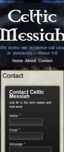 Responsive CMS blog website with contact form and user admin section