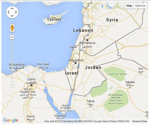 Palastine Google Map