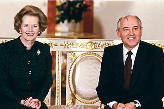 غورباتشوف مع مرغريت تاتشر