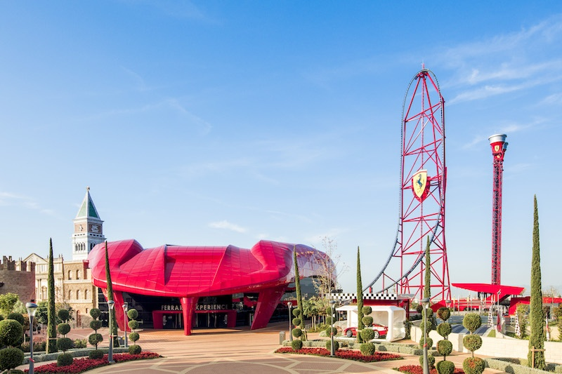 Ferrari Land is probably the best place to visit in Spain with family if you're car fans.