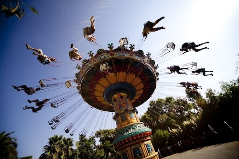 Hop on a ride at Isla Magica, one of the best theme parks in Spain