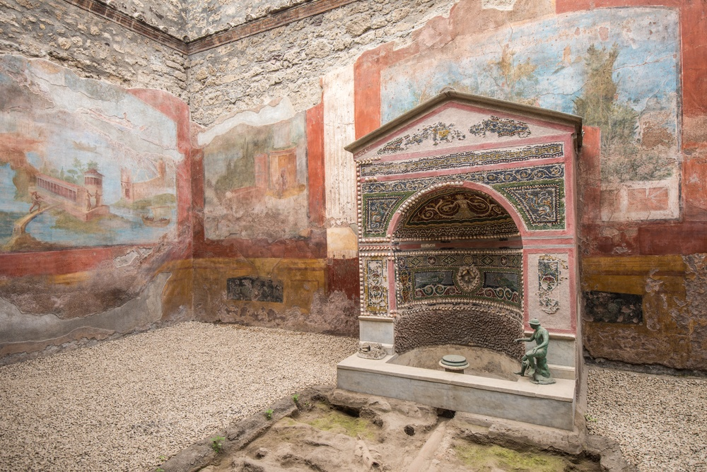 Beautiful ancient frescoes are one of the highlights of visiting Pompeii.