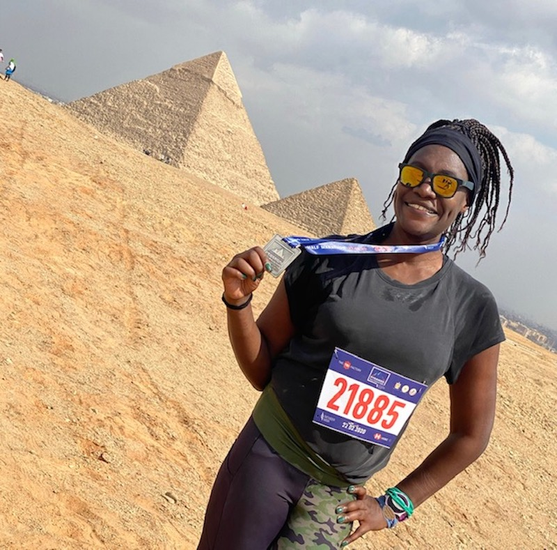 Monique White on one of her running holidays in Egypt