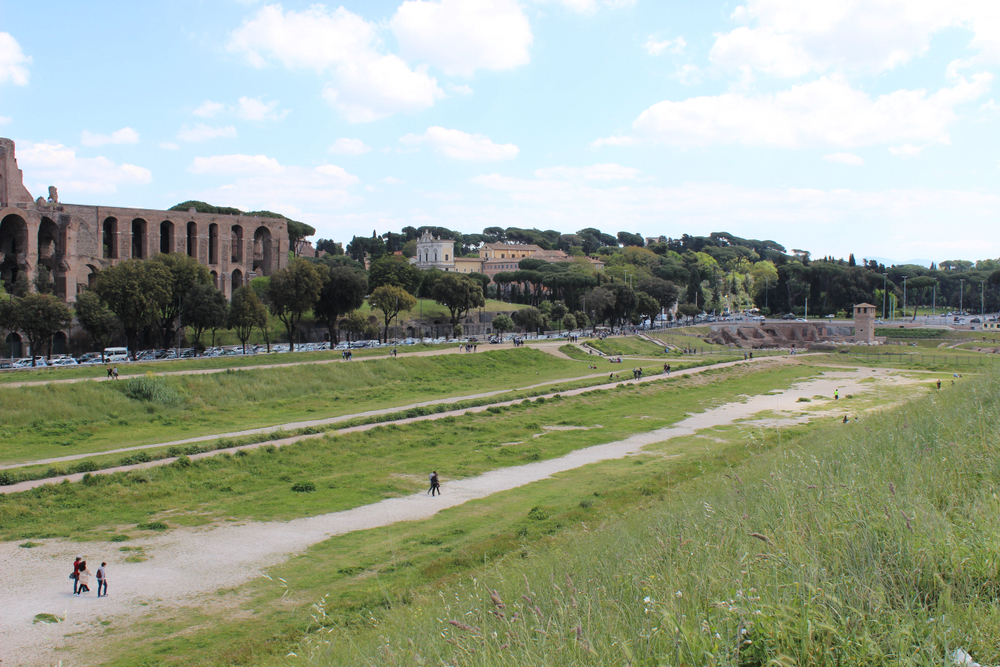 The Circus Maximus in Rome in modern day