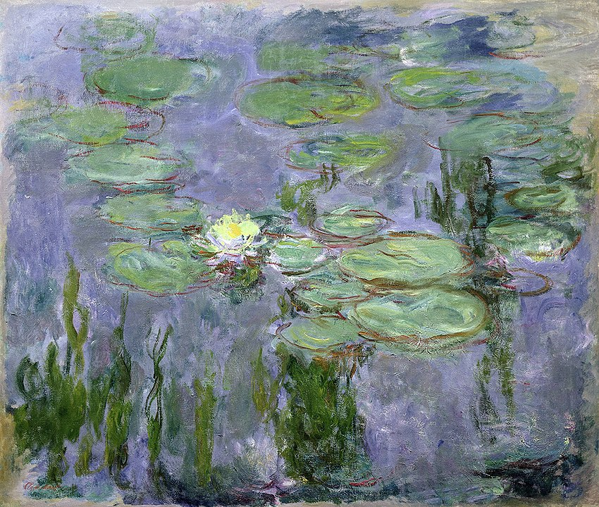 Water lilies painted by Monet, part of his iconic series.