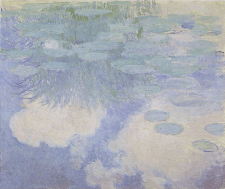 Water lilies painted by Monet, as displayed at Musée Marmottan Monet.