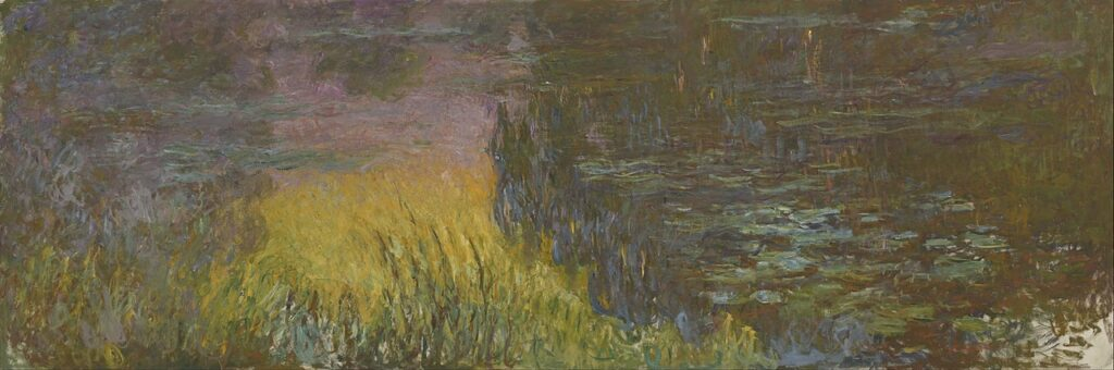 An excerpt from one of Monet's famous water lilies, as found at the Musée de l'Orangerie in Paris.